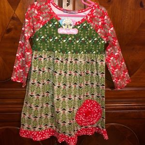 New Jelly the Pug Christmas Dress size 6